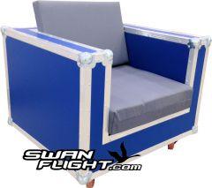 Blue Flightcase Chair