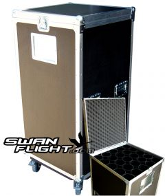 Open & Closed Tubed Mic Stand Flightcase
