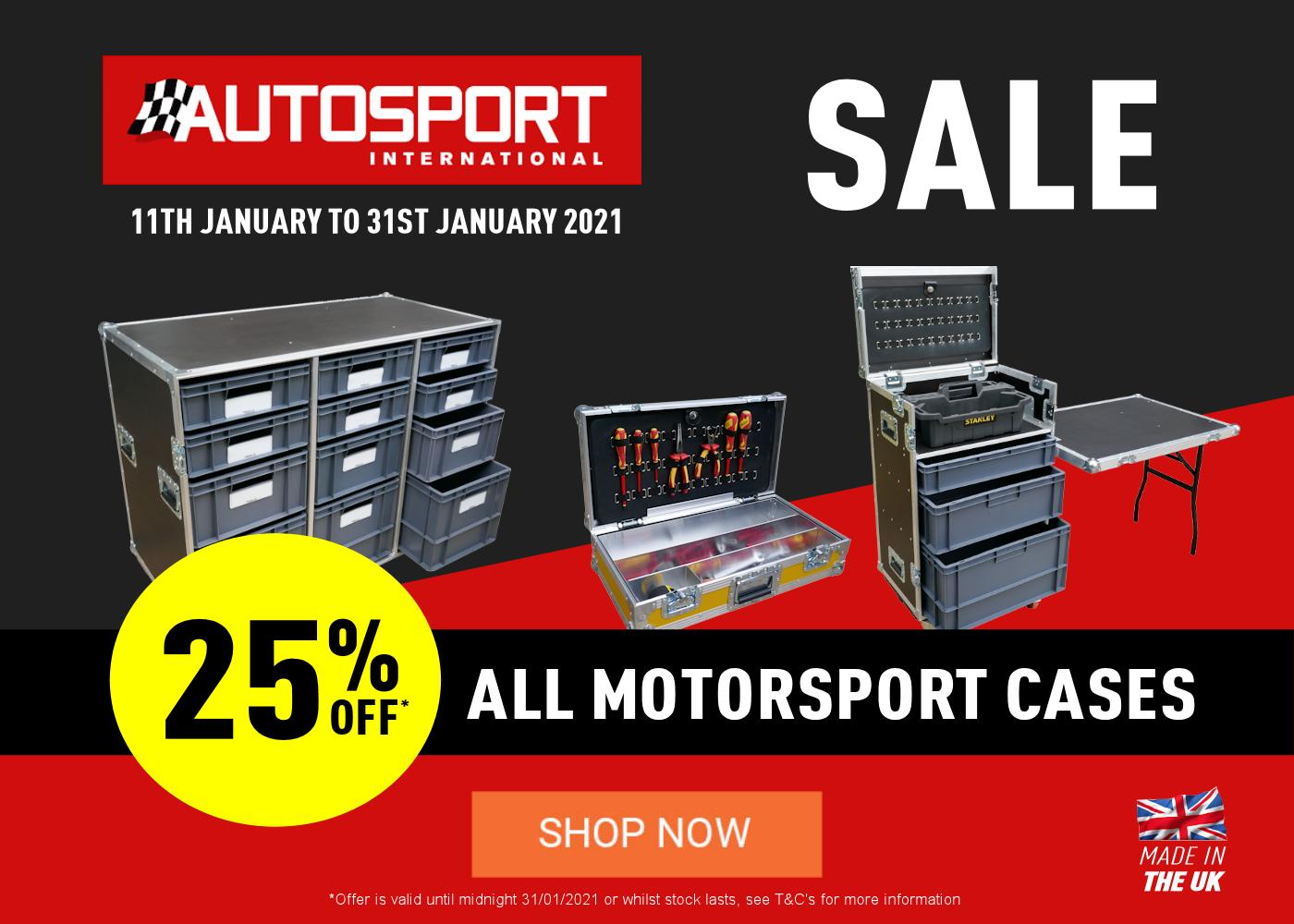 Autosport 2021 25% OFF Sale